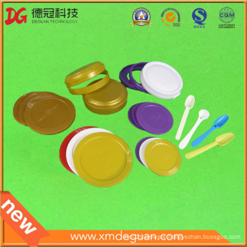 Customized Food Grade Plastic Cover Cap Cup Lid