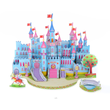 Rompecabezas 3D castillo azul