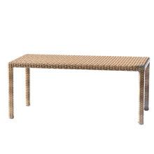 Mesa de comedor de jardín de mimbre de la rota de patio muebles al aire libre