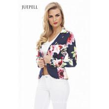 Floral Suit Office Women Jacket