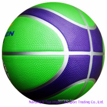 12 Panels Colorful High Quality Rubber Basketball