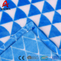 Well designed solid geometrical pattern super soft plush flannel fleece blanket