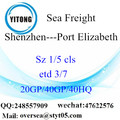 Shenzhen Port Sea Freight Shipping ke Port Elizabeth