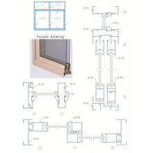 Perfil de aluminio para ventanas corredizas y puertas