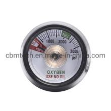 Medical Oxygen Pressure Gauge for Click-Style Regulators