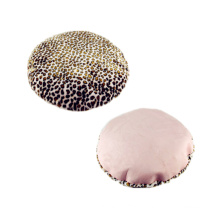 Leopard Print Plush Round Shape Dog Cushion