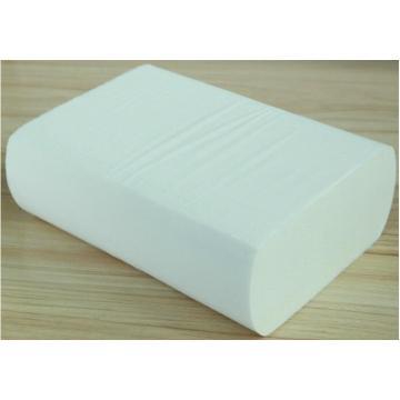 V fold embossed white hand paper towel