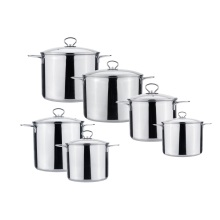 5L large metal stainless steel casserole dish set