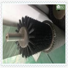 Cuerpo verde de los PP del cepillo industrial del acero inoxidable del nilón negro (BR-QSLL-0.25)