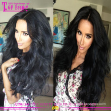Middle part body wave wet and wavy indian remy full lace wig with bang 100 % unprocessed wet and wavy full lace wigs