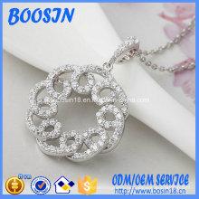 Joyería de collar de plata de alta calidad de fábrica para bodas