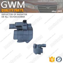 Pièces d'auto de Great Wall déflecteur de pièces de rechange de Great Wall C30 de radiateur 5514201XJ08XA