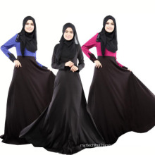soft quality polyesterdubai women dress black long sleeve lace abaya islamic clothing