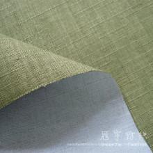 FR Искусственный лен 100% полиэфирной ткани для дивана