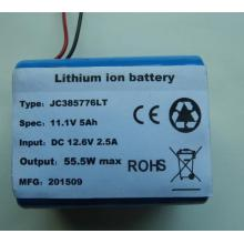 11.1V rechargeable li ion battery pack