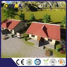 (WAS1001-40D) Faible coût de main-d'œuvre Absorption acoustique Panneaux muraux ALC Prefab House Fabricant