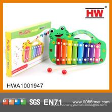 Новый дизайн для детей Play Set Cartoon Frog Деревянный ксилофон
