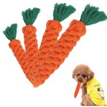 Baumwolle Karotte Zähne Reinigung Haustier Hunde Seil Spielzeug