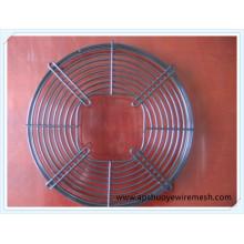 Круглая металлическая решетка из нержавеющей стали с охлаждающим вентилятором