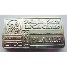 Silver Plating Sandblasted Money Clip (MJ-Money clip-002)