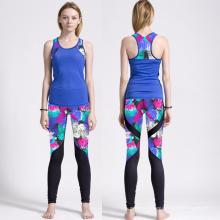 Camisola de alças de compressão Spandex para mulher