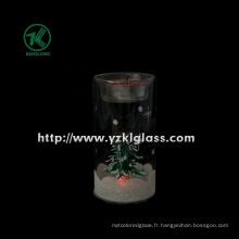 Coupe à bougies en verre pour décoration maison