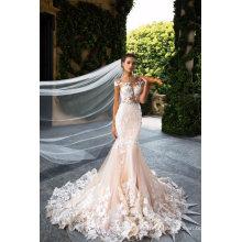 Moda Sexy Lace Backless Sereia Vestido De Noiva Vestido De Noiva