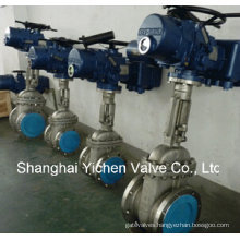 API 6D Rising Stem Motor Operated Gate Valve