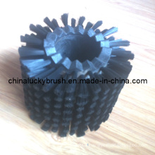 Black Nylon Material Round Glass Cleaning Brush (YY-257)