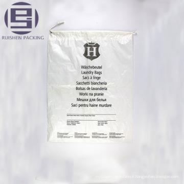 Sac d'emballage en plastique imprimé à fond plat transparent