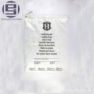 Flat bottom clear printed plastic packaging bag