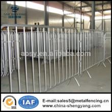 Panneaux de barrière temporaires galvanisés faciles à installer