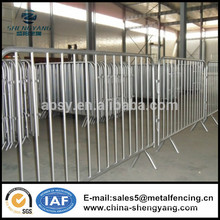 Easy connected galvanised metal tube event barriers temporary fence panels
