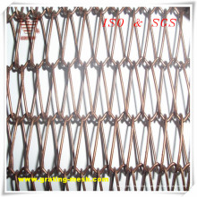 Rideau en maille de type à maillons de chaîne de haute qualité pour la construction décorative