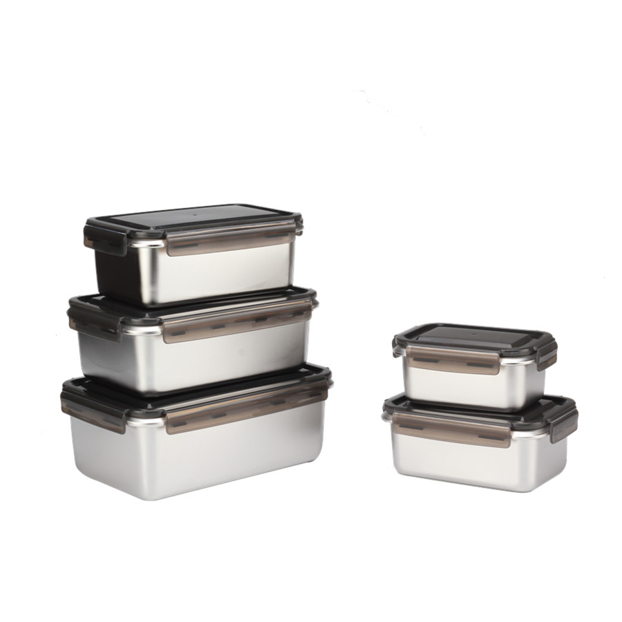 5pcs Stainless Steel Food Container