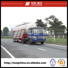 Trailer de aço do tanque de LPG, caminhão tanque para o transporte de líquido químico
