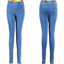 2016 Neue Trendy Blue Skinny Denim Girl Leggings