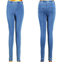 2016 Novos Leggings magros de moda em azul da menina da sarja de Nimes