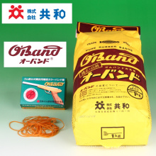 Rubber band O-Band made from high quality raw rubber. Manufactured by Kyowa Limited. Made in Japan (transparent rubber band)