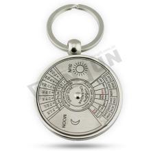 Porte-clés en forme ronde, porte-clés en métal, porte-clés de compas