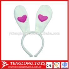 Venda al por mayor la venda del oído del conejito la venda encantadora del oído del conejito de la felpa