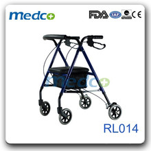 Foldable light weight Rollator with rest seat RL014