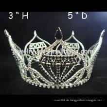 Art und Weisemetall versilbert Kristall volle runde Prinzessinkrone