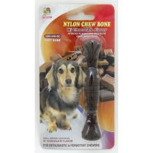 "Percell 4,5 ""Nylon Dog Chew Spiral Bone Chocolate Scent"