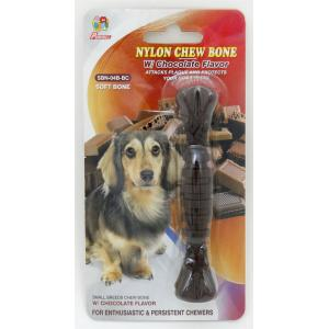 "Percell 4.5 ""Nylon Dog Chew Spiral Bone Chocolate Scent"