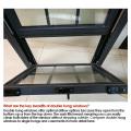 Factory direct supply aluminum single hung window profile windows and door