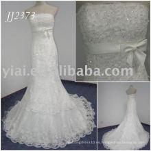 JJ2373 La muestra verdadera rebordeó los vestidos del aniversario de boda de la sirena del cordón