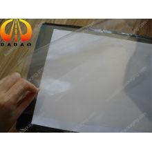 Super large film en polyester transparent