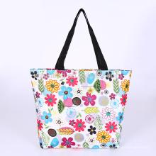 Kundenspezifische GroßhandelsPolyester-Dame Floral Fashion fördernde EinkaufsTaschen-faltbare Tasche