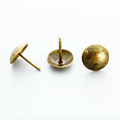Half Ball Upholstery Tacks 9x17mm in Antique Brass